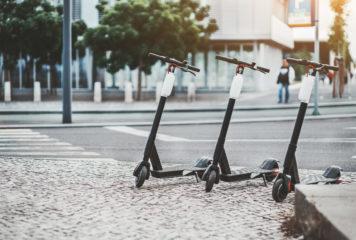 E-Scooter mit angestrebter Straßenzulassung