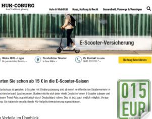 HUK-Coburg bietet E-Scooter Versicherung an