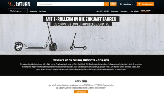 Zugelassene E-Scooter bei Saturn und Media Markt vorbestellbar